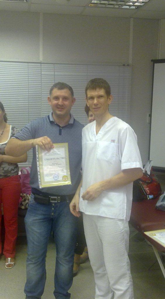 Вручение сертификатов Мельников А.П. и Хазов О.Э.