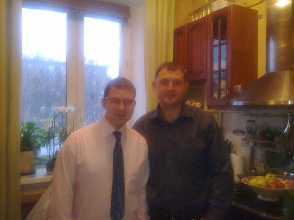 Павел Рудин - писатель (слева) и А. Мельников(справа)